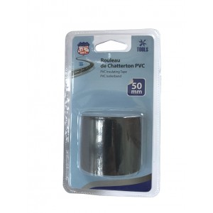 RUBAN ADHESIF ISOLANT PVC LARGE 50MM NOIR