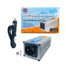 CONVERTISSEUR 12V/230V/300W DC/AC (PRISE N.F.) + PORT USB