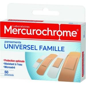 "PANSEMENTS ""FAMILLE"" BOITE X 50 MERCUROCHROME"