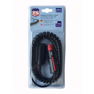 RALLONGE SPIRALE AC/AC 12/24V 8A CABLE 2 x 0,823mm (60CM-3M)