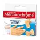 PANSEMENTS FINGERS x 12 MERCUROCHROME