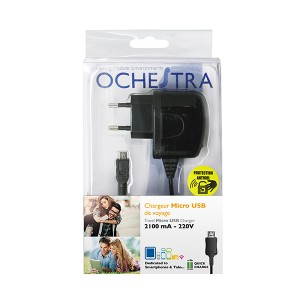 CHARGEUR 220V CABLE MICRO USB 2100mA