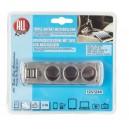 TRIPLE AC 12V/24V + 2 PRISES USB Maxi 3.1 Amp