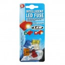 FUSIBLE FICHE GM + INDIC. A LED x 5 pces (5 à 25A)